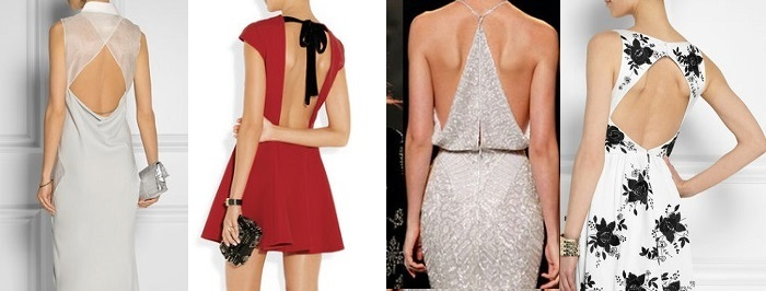коктейльные платья с открытой спиной