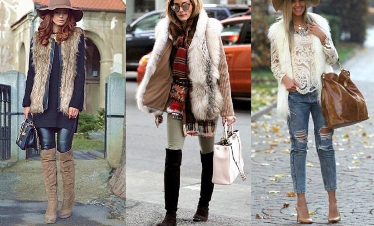 модные меховые жилеты 2016