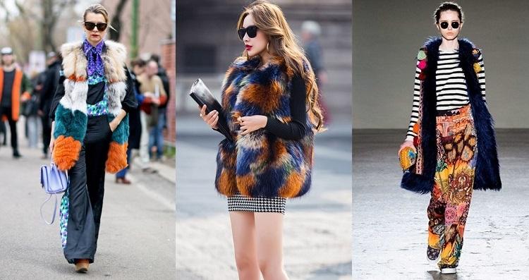 меховые жилеты 2016 года модные тенденции фото