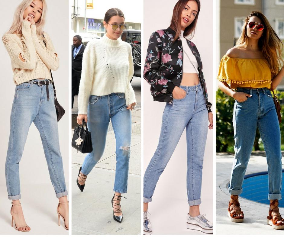 джинсы mom jeans